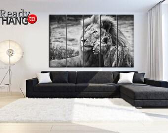 Lions, Lion Art Decor, lion wall art, lioness, lion home decor, lion canvas decor, lion nursery art,  Lion Art Print, Animal paintings