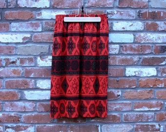 Vintage Tribal Print Skirt
