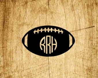 Football Vinyl Monogram Decal