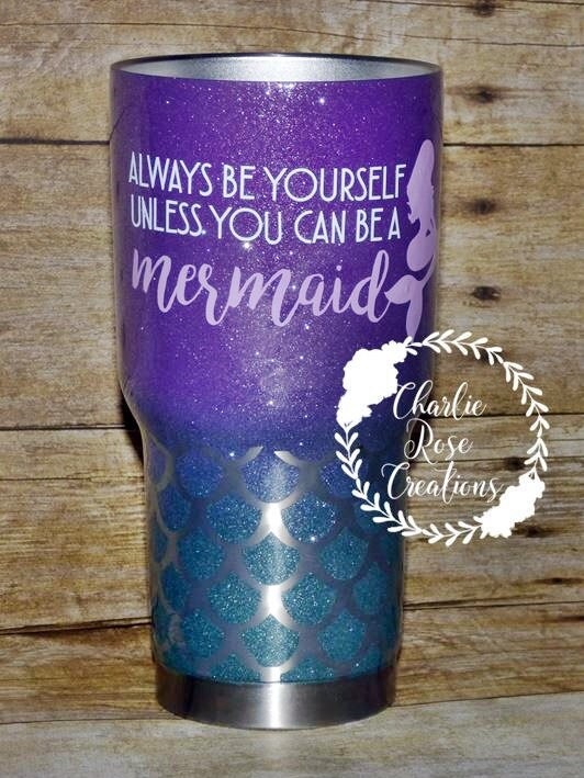 Yeti Cup Prices >> Mermaid Tumbler Custom Tumbler Personalized RTIC Ombre