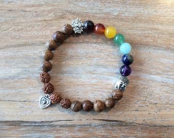 Mala 7 chakras meditation Yoga Love bracelet