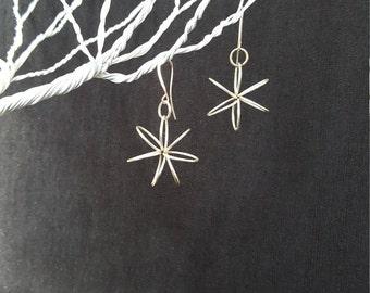 Wire Flower Earrings (SM)