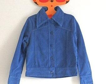Billie Jacket: Vintage Child's 1970s brushed cotton jacket