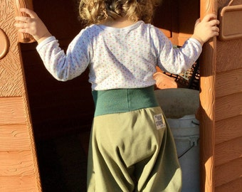 Toddler - kid - baby baggy / harem pants, modern comfy jersey pants, elastic waist, many colors to choose, MTO