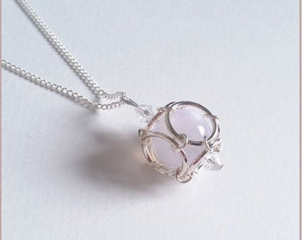"Necklace ""Moonlight Collection"" Pearl White shine"
