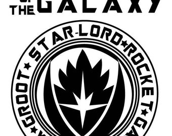 Guardians of the Galaxy Design for Silhouette Studio, Cut Files, Clip Art, INCLUDES SVG FILE