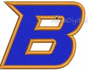 Boise State Broncos Sacondary Logo Machine Embroidery Design 4 Sizes