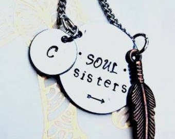 Soul Sister Necklace SET, Soul Sister Jewelry, Sister Necklace, Best Friend Jewelry, Best Friend Necklace, Best Friend Gift, Gifts for Her