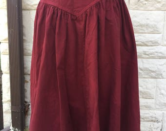 Circle L red country skirt