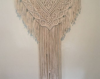 Large Macrame Wall Hanging Headboard Macrame Boho Wall Hanging Fiber Art Hippie Decor Jungalow