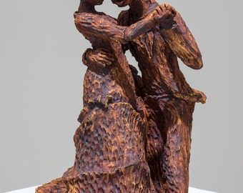 Cermaic Sculpture - Waltz Dancers