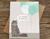 funny birthday card / cat birthday card / cat card