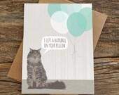 lustige Geburtstagskarte / Geburtstagskarte Katze / cat Karte