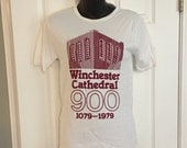 Vintage 1979 Winchester Cathedral t-shirt England UK