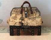 Blythe Doll Carpetbag Trunk Suitcase