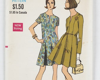 Vogue Pattern 7634 Miss Size 16 1/2 Bust 39 1960's