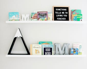 Snow Peak Mountain Shelf for Nursery Boys Room Forest Reclaimed Wood Triangle Geometric Home Decor Black and White The Mountains are calling