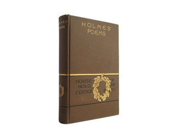 the poetical works of oliver wendell holmes antiquarian book in decorative binding with gilt decoration