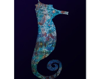 Enchantment Under the Sea Print / Seahorse Print / Marine Life Print / Ocean Wall Art / Beautiful Print / Home Decor / 8 x 10
