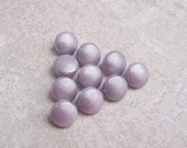 Silvered Lavender Buttons, 13mm 1/2 inch - Pebbled Pastel Purple Retro Mod Buttons - 10 VTG NOS Light Purple Plastic Shank Buttons PL588