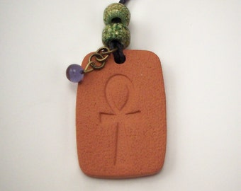 Ankh Necklace - Aromatherapy Diffuser Jewelry with or without Essential Oil of Your Choice