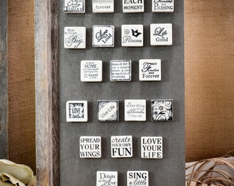 ONE inch Tumbled Stone Magnet-Your CHOICE by Sentimental Stones