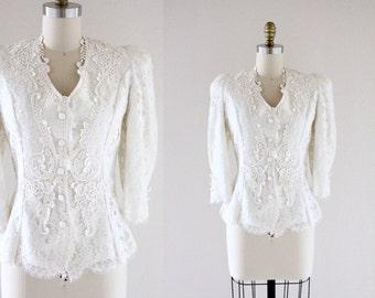 S A L E lace on lace blouse / jacket