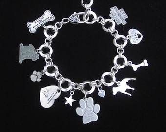 I Love my Pitbull Charm Bracelet