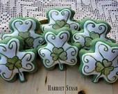 Primitive Shamrock bowl fillers | Shamrock ornaments | Farmhouse Decor | Hand painted Shamrock | St. Patricks decor | Irish decoration