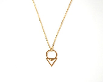 Necklace Andy brass gold filled 24k, silver plated brass