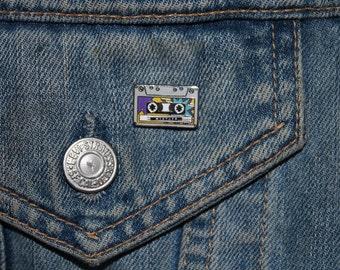 Mixtape Enamel Pin Badge - Hard Enamel Nickel Free Metal Brooch - Cute '80s '90s Retro Vintage Geek Cassette