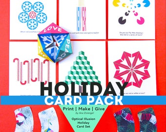Printable Holiday Card Pack
