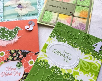 Handmade Happy Mothers cards - cards for mom - orchids - pastels - roses - embossed - bird cards - Stampin up cards
