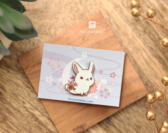 White Rabbit Pin (Angelic Bunny)
