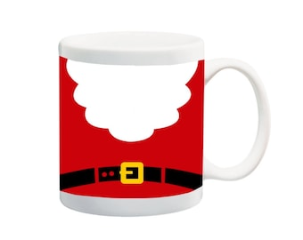 Santa Beard and Belt Christmas 11 ounce, 15 ounce, or 20 ounce, Ceramic Coffee Mug Tea Cup by Moonlight Printing, 8141u46