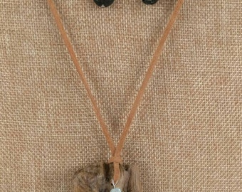 Dragonfly Driftwood Diffuser Jewelry Set, Diffuser Earrings, Driftwood Necklace, Eco Friendly Jewelry, Lava Beads,