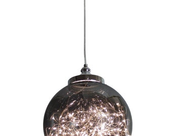 EQLight LED Cosmos Pendant Light 12W - Smoked Glass Sphere