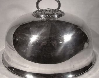 Martin Hall & Co Silver Plate Meat Dome 19thC Platter Cover