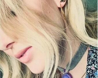Choker necklace, choker necklaces, Saturn hurricane, space necklaces, cosmos, Saturn necklace, choker necklaces, purple choker, choker