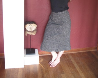Vintage Grey Tweed Skirt