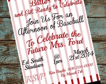 Baseball Bachelorette Invitation
