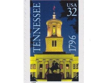 10 Unused US Postage Stamps - 1996 32c Tennessee - Item No. 3071