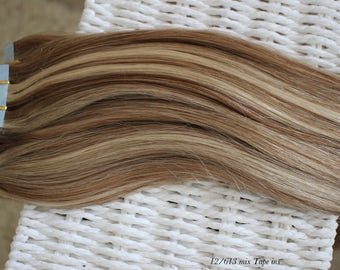 Tape in Remy human Hair Extension/ 120g/pk/