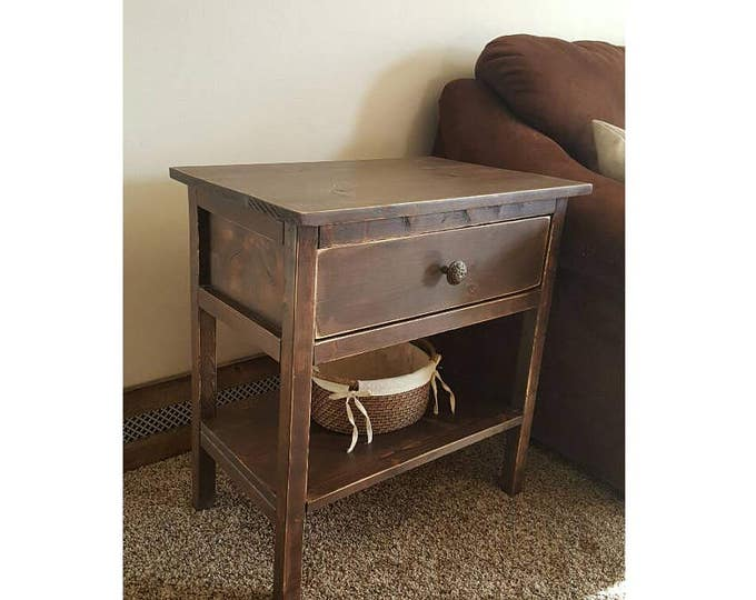 Nightstand - Side Table - Bedside Table - Wood Nightstand