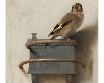 Bird Painting, The Goldfinch, Dutch Oil Painting