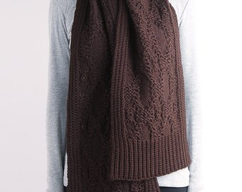 Long knit scarf, knit scarf, cable knit scarf, chunky knit scarf, wool scarf, women scarf, brown knit scarf,white knit scarf, red knit scarf
