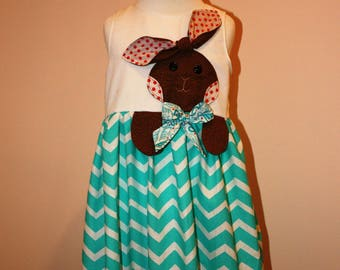 Easter Bunny Girls Spring Dress