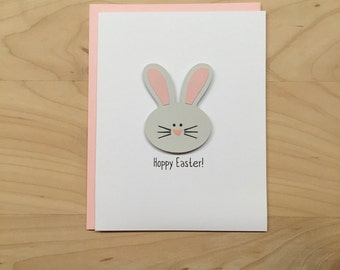 Hoppy Easter Card, Easter Card, Happy Easter Card, Easter Bunny Card, Cute Easter Card, Easter Notecards