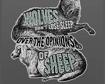 Of Wolves and Sheep 8x10 Art Print