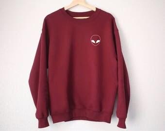 Alien Pocket Sweatshirt - Alien Sweatshirt - Tumblr Sweatshirt - Tumblr Style - Alien Pocket Sweatshirt - Alien Tumblr Sweatshirt